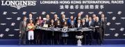 浪琴表香港盃頒獎儀式大合照。