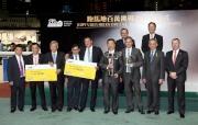 2014/15年度馬季跑馬地百萬挑戰盃頒獎儀式大合照。