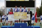 2015世界星級騎師大賽冠軍莫雷拉、亞軍武豊及季軍戶崎圭太於頒獎禮上合照。(圖片由日本中央競馬會提供)
