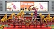 圖三, 四:  繽紛多彩的醒獅匯演為開鑼儀式添上熱鬧氣氛。