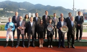 Group photo after the  presentation ceremony of Bauhinia Sprint Trophy.