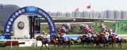 圖 1, 2, 3, <br> 三冠大賽次關賽事花旗銀行香港金盃今日於沙田馬場舉行,騎師貝湯美夥拍約翰摩亞馬房的「威爾頓」(2號)於這場途程2000米的國際一級賽中勇奪冠軍。「喜蓮歡星」(6號)及「軍事出擊」(3號)分別跑獲亞、季軍。